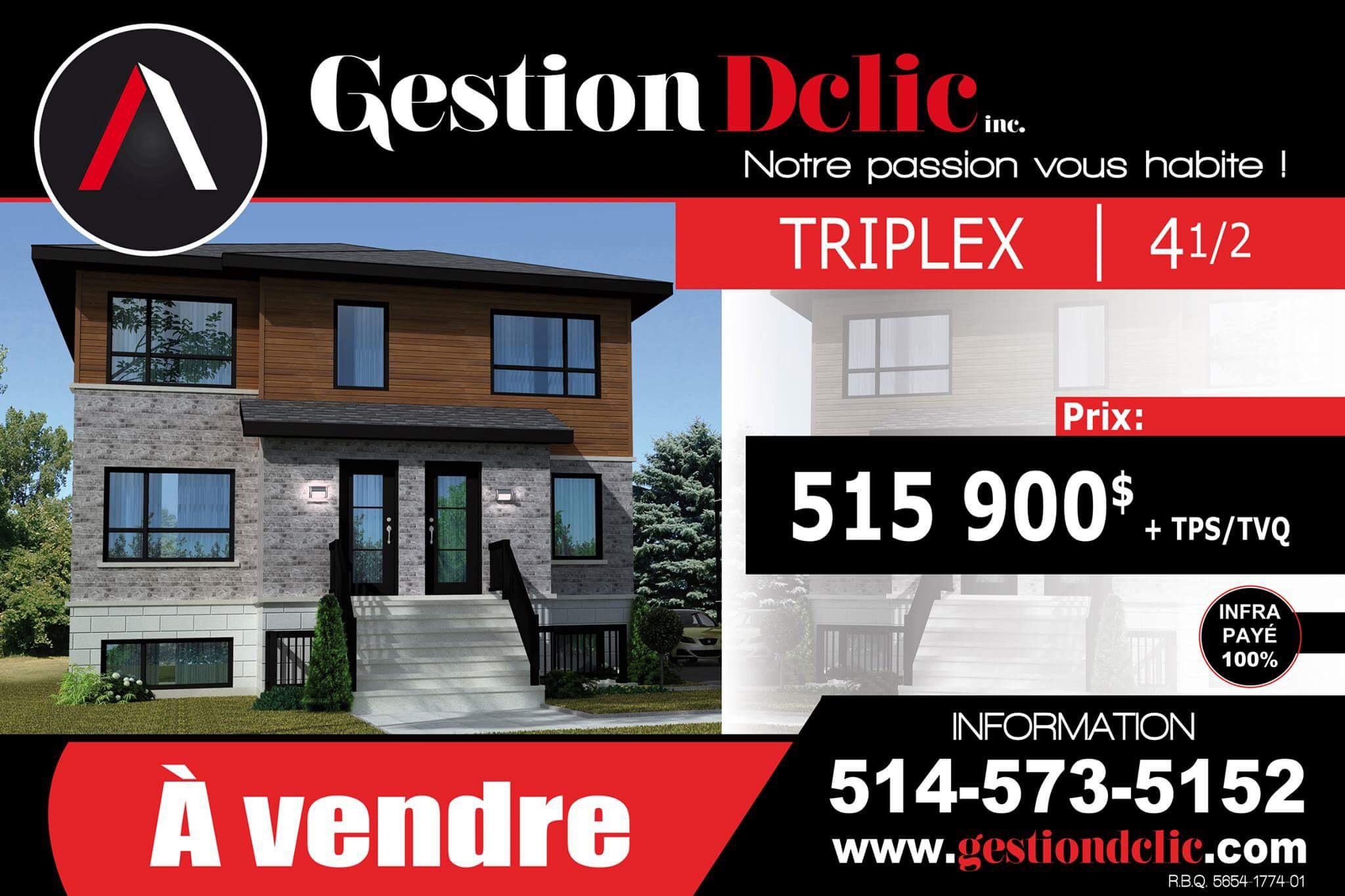 Triplex Saint-Philippe (À vendre)